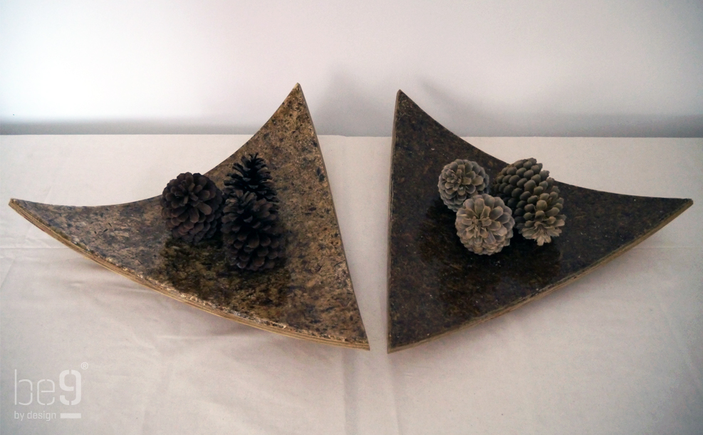 Triangular pinecone chip plateaus